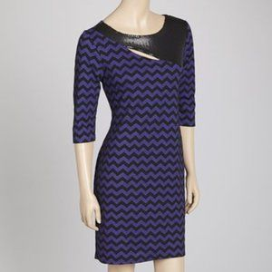 3FOR15$ Carrie Allen purple and black medium dress